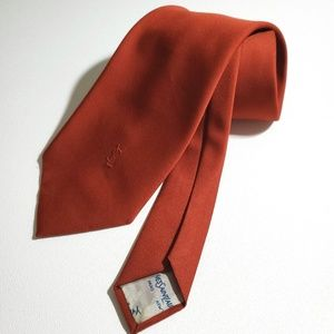 YVES SAINT LAURENT YSL Bright Orange Tie Vintage